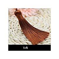 5個/ロットサテンのタッセル中国結びタッセル手作りDIYのレーヨンペンダント用の布イヤリングDIYアクセサリー、14
