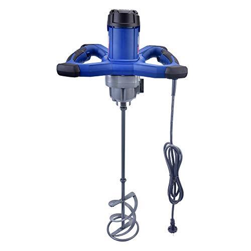 1800W Rührwerk Mörtelrührer,6 Geschwindigkeits-elektrischer Handmischer,M14-Gewinde,Handrührgeräte Mischer, Betonrührer Rührer für Mörtel (1800W Blau+)