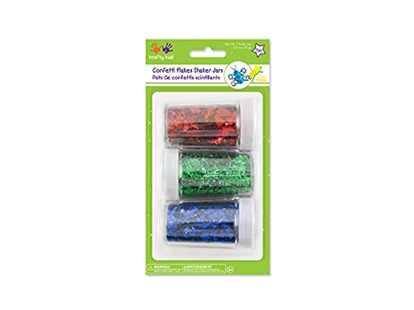 Krafty Kids Confetti Flakes Shaker Jars, 15g, Red/Green/Blue