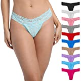 Pmrxi Pack of 10 Women's Underwear Lace Thongs, Assorted Different Lace Pattern
