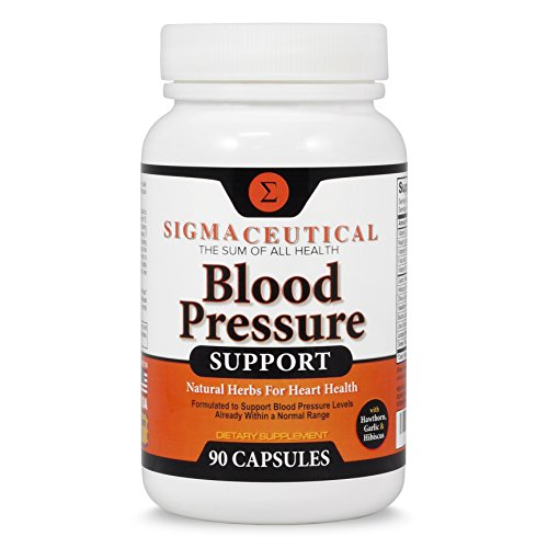 Premium Blood Pressure Support Formula - High Blood Pressure Supplement with Hawthorn Extract, Olive Leaf, Garlic Extract & Hibiscus Supplement - Blood Pressure Medicine - 90 Capsules