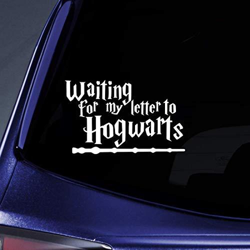 Promini Anti-Staub Vinyl-Aufkleber – Warten auf Brief von Hogwarts Auto-Aufkleber – 17,8 cm geschnittener Aufkleber für Fenster, Autos, LKWs, Laptops oder jede glatte Oberfläche