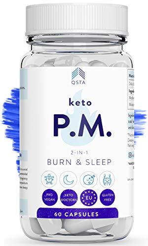 Keto Plus Original PM (45 NOCHES) - Quemagrasas potente para adelgazar y rapido, Quema grasas mientras duermes & Mejora tu sueño REM - Fat Burner Reductor, Kit Completo Dieta, PERSONALIZADO + MEDICOS
