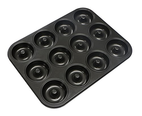 webake Donut Backform Kuchenform für Donut, Muffins, Brownies, Kuchen, Antihaft 12 Vertiefungen Ø 7cm