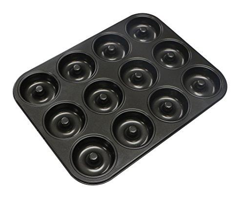 webake Stampo Ciambella 12 cavità Stampo Ciambellone Teglia Antiaderente da Forno in Acciaio al Carbonio Muffin Pan Cup Cake Tray per Ciambelle Muffin Cupcakes Torta