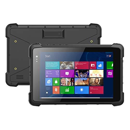 LLC-POWER 8-Pulgadas Ultra Resistente Tablet Windows 10, con 2 + 32GB / 2 + 5MP / WiFi / Bluetooth4.2 / HDMI / 6000Mah Batería / IP67 Nominal De Empresa Móvil Trabajo De Campo,Negro