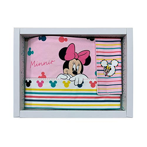 Disney - Juego completo de sábanas de 3 piezas para bebé, cochecito y cuna de 100% algodón (cuna/cochecito de bebé)