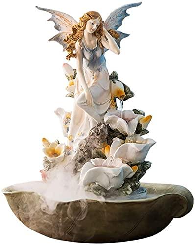LXHJZ Nebulizador Hadas con Fuente Agua para Interiores, Ideal para decoración del hogar,...