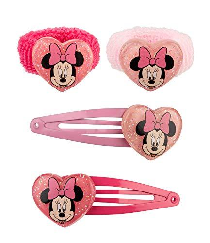 SIX 2er Set Kinderhaarschmuck mit Haargummis und Haarklammern Disney Minnie Maus (304-778)