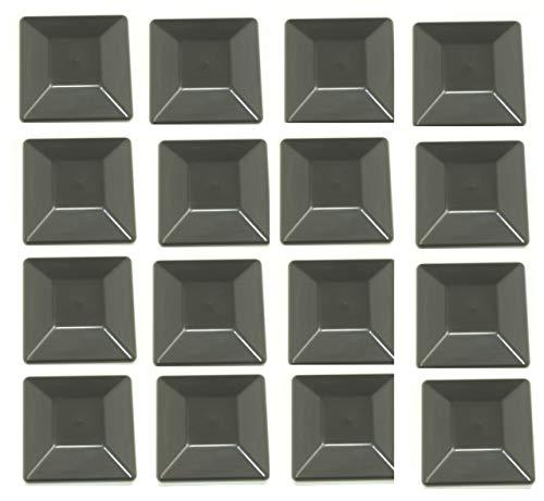 JSP Manufacturing 16 Pack Fence Post Plastic Black Caps 4X4 (3 5/8