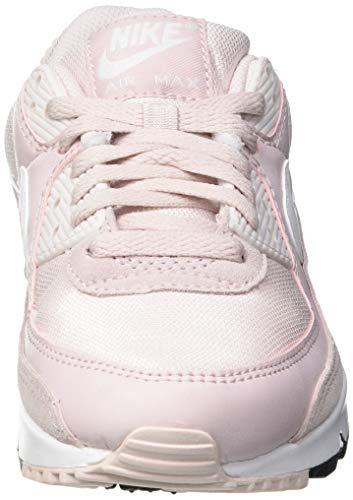 Nike W Air MAX 90, Zapatillas para Correr Mujer, Barely Rose White Black, 38.5 EU
