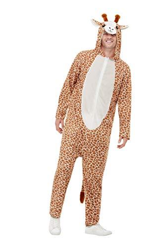 Smiffys 50713L Giraffe kostuum, Unisex Volwassene, Bruin