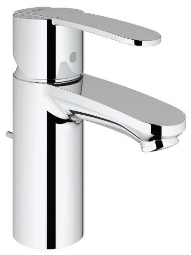 Grohe Wave Cosmopolitan 23231000 Mischbatterie, Wasserhahn mit 1 Düse für Badezimmer-Waschbecken, 1/2 Zoll Rohr, Chrom