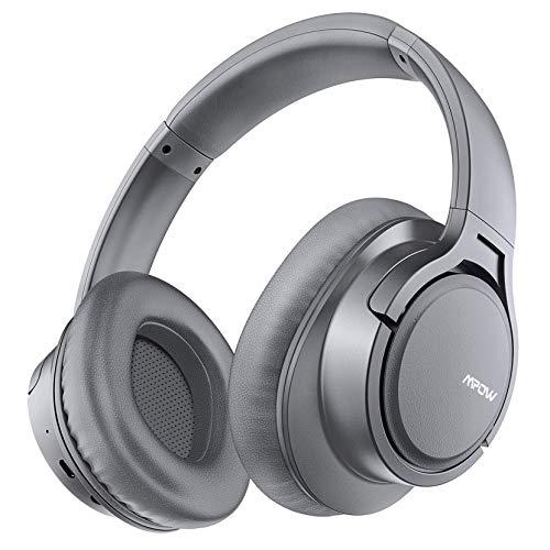 Mpow H7 Cascos Bluetooth Diadema, 25hrs de Reproducir, Hi Fi Sonido, Cascos Bluetooth Inalámbricos con Micrófono Incorporado, Auriculares Bluetooth Diadema para TV, Móvil, PC, Gris