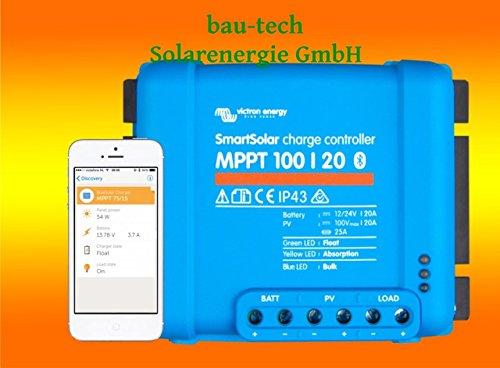 Victron Smartsolar MPPT Laderegler 100/20 20Amper 12V oder 24V inklusiv Bluetooth von bau-tech Solarenergie GmbH
