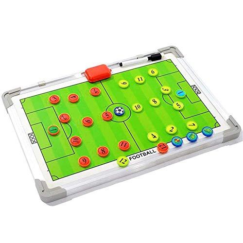 TTSHOP Tablero táctico Entrenador de fútbol Tablero de demostración magnético Tablero de orientación de Entrenamiento de Aluminio con bolígrafo Pieza de ajedrez magnética Plan de tácticas Eq