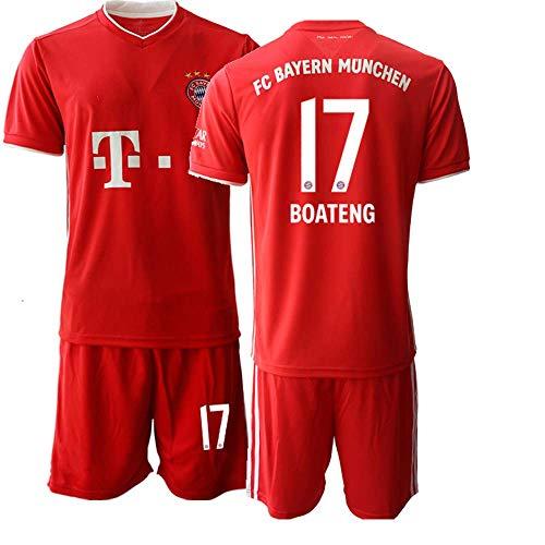 JEEG 20/21 Herren Boateng 17# Fußball Trikot Fans Jersey Trainings Trikots (XXL)