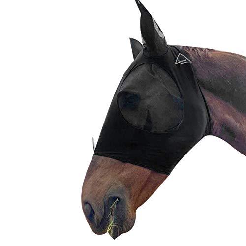 Balacoo - Maschera da mosca per il viso, completa di cavalli, con orecchie per zanzare, prevenzione di punture all'aria aperta