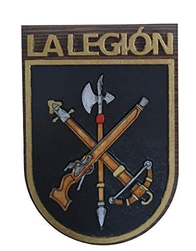 Metopa Madera Legion Española Handmade 8x5,5cm...