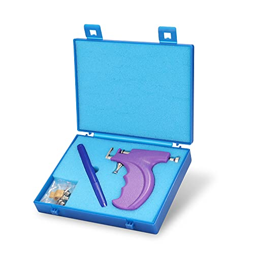 Weytoll Kit de herramientas de perforación de orejas de acero inoxidable Máquina de perforación de nariz de oreja sin dolor profesional