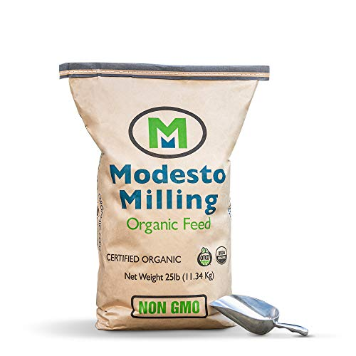 Modesto Milling Organic, Non-GMO Layer Crumbles for Chickens, Formulated Without Corn or Soy, 25lbs; Item# 953