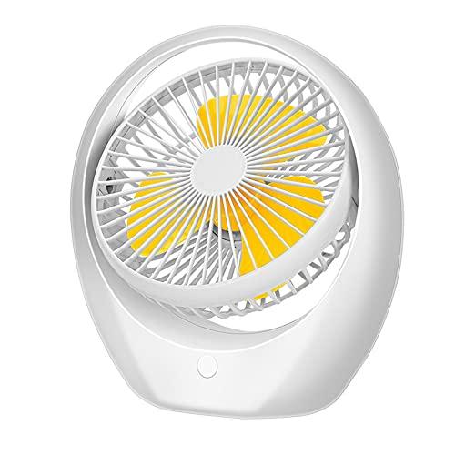 Yarmy Ventilador de escritorio, ventilador de mesa USB, ventilador USB silencioso, ventilador de refrigeración portátil, velocidad ajustable 180 ° giratorio para casa, oficina, dormitorio