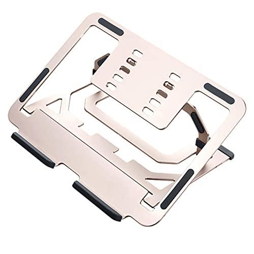 MEYYY Soporte para computadora portátil, ergonómico y portátil, diseño hueco, ángulo de altura ajustable para computadora portátil