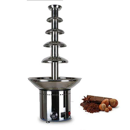 TYUIO Chocolat Commerciale Fontaine - Fontaine de Chocolat Machine Hot Pot Cascade Machine, Bureau Compact, de température réglable (Size : Five Layers)