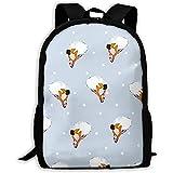 Lässige Schultasche,Herren/Damen,Outdoor-Umhängetasche,leichter Rucksack personalisierte,große Rucksack-Ballerinas-Ballett-Reisetasche mit Punkten,verstellbarer Oxford-TagesRucksack...
