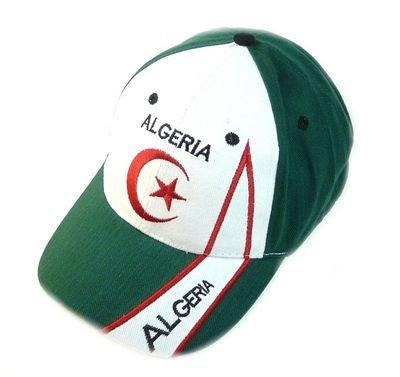 Fan Cap Algerien NEU Kappe Fahne Flagge Basecap