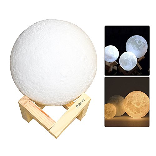 Aibecy Moon Lamp USB ricaricabile LED 3D stampato PLA Night Light...