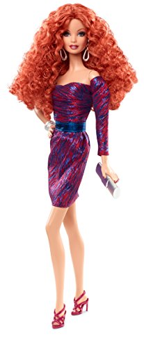 Barbie - Cjf50 - The Look - Robe Pourpre/Bleu