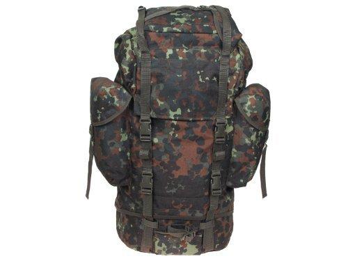 Combat Sac à dos avec 3 poches extérieures, Style Armée Allemand, 65 l. – BW camo