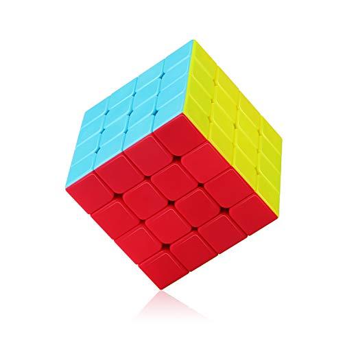 ROXENDA Speed Cube, Cubo Magico 4x4 Tornitura Rapida Liscia - Solido Durevole & Stickerless Glassato, Il Miglior Giocattolo Magico di Puzzle 3D - Gira più Velocemente Dell'originale (4x4x4)