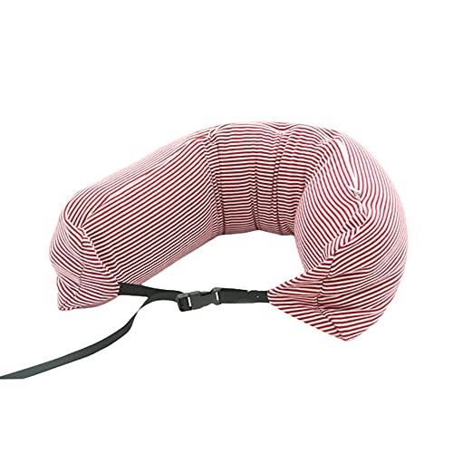 Savlot Almohada de Viaje Almohada de Cuello portátil Ajustable Almohada de Soporte de Cuello en Forma de U Almohada de Cuello Ligera compacta para Asiento de Coche Silla de Oficina