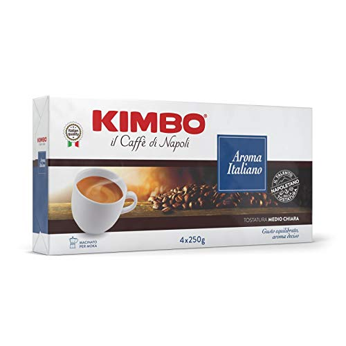 Kimbo Aroma Italiano Caffè Macinato - 4 Pacchi da 250g