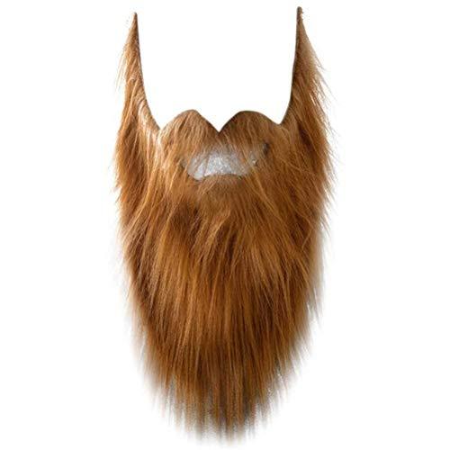 Tixiyu - Barba falsa de bigote para fiesta de Halloween para hombre y hombre, para disfraz de vello facial, suministros para festivales, accesorios de disfraces