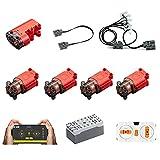 EAYOK Motores Power Functions Set de 11 piezas para motores, caja de batería, compatible con Lego Technic