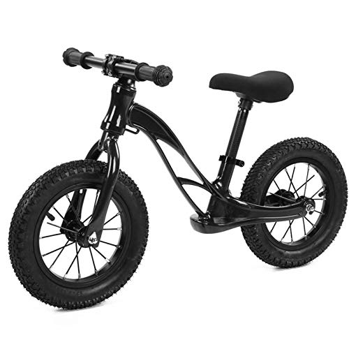 Bicicleta deslizante de dos ruedas, sin pedal, aleación de magnesio Bicicleta deslizante para niños de dos ruedas,mini, bicicleta equilibrada para niños, para niños de 2 a 6 años(negro)