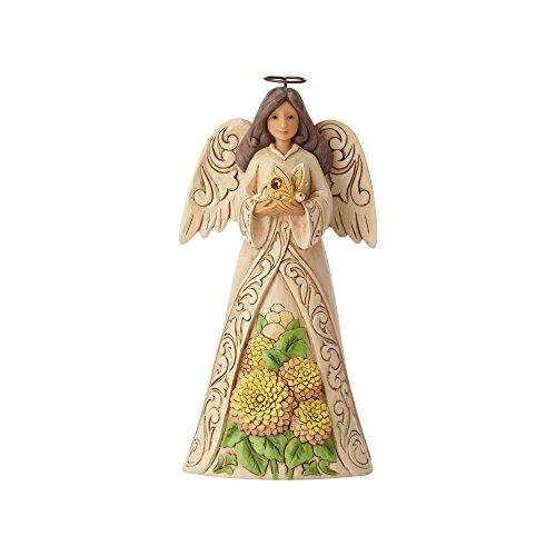 Jim Shore Heartwood Creek 6001572 Angelo del Mese di Novembre Figurina, Resina, Multicolore,...