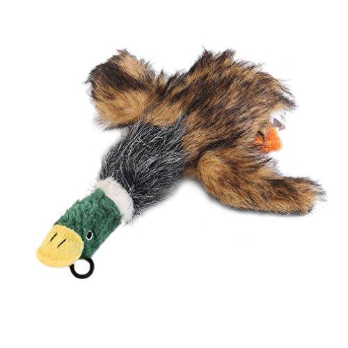 YKSO Niedliches Cartoon-Haustier-Hundespielzeug, Plüsch-Quietsch-Ente, Welpe, Haustier-Kauen, quietschend, lustiges Spielzeug