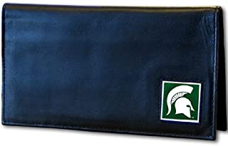 NCAA Michigan State Spartans Leather Checkbook Cover, Black, Standard