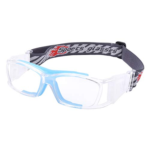 SooGree Basketball Dribbling Glasses Soccer Football Sports Protective Eyewear Goggles Eye Safety Glasses Anti Fog Lens for Men Adults (blue)
