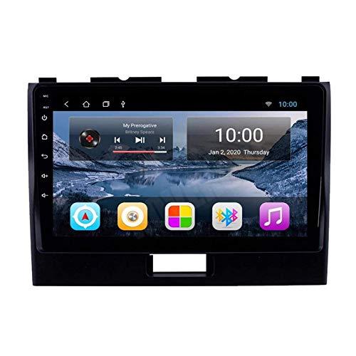 Lettore multimediale per autoradio, 9 pollici, per Suzuki Wagon R 2010-2018, GPS/FM/Bluetooth/connessione specchio/controllo volante/telecamera retromarcia