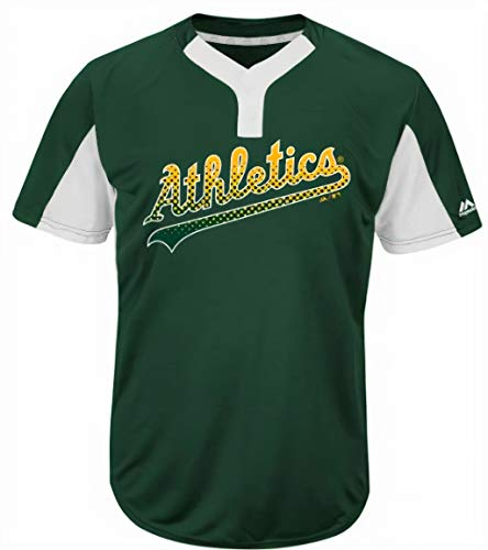 Majestic Oakland Athletics Premier Eagle Cool Base Men's 2-Button Jersey Small