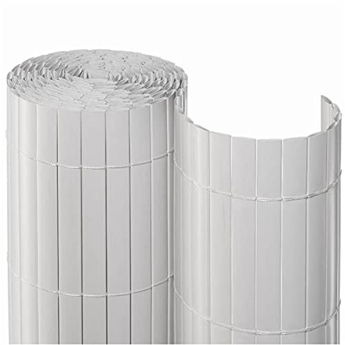 NOOR Sichtschutzmatte PVC Sichtschutz, Weiß, 0,90 x 3 m