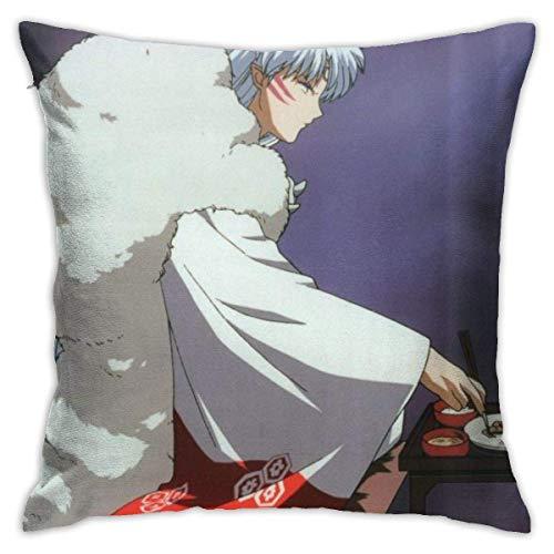Lsjuee SeanPPP Inuyasha Throw Pillow Covers 18 'X 18' Pulgadas Funda de cojín Decorativa de Forma Cuadrada para sofá Juego de Almohada para sofá