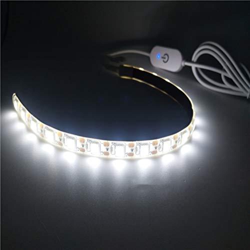 Uonlytech - Tira de luces LED (cinta de luz autoadhesiva portátil, para máquina de coser, 2 unidades, 2 m, 5 V, 6500 K, luz blanca fría)