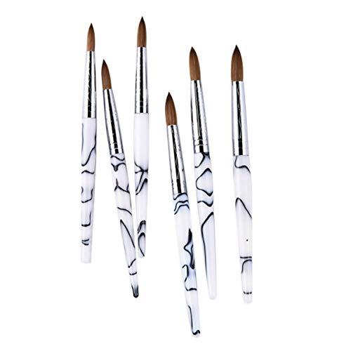 Slsy Accmor Kolinsky Acrylic Nail Brush, 3D...