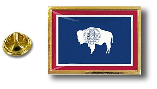 Akacha pin flaggenpin flaggen Button pins anstecker Anstecknadel sammler usa Wyoming